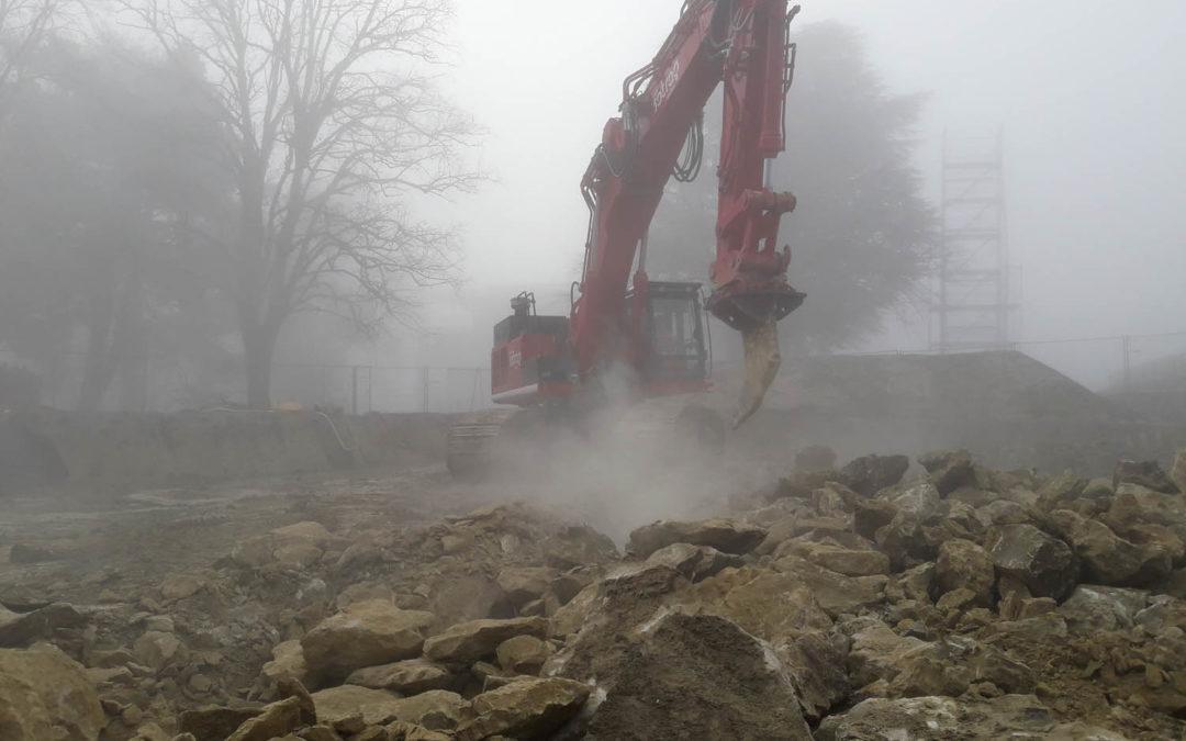 Le-Mont-sur-Lausanne – Travaux de terrassement et canalisations